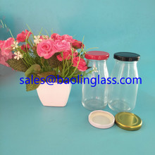 200ml Milk Glass Bottle With Lug Cap Manufacturer