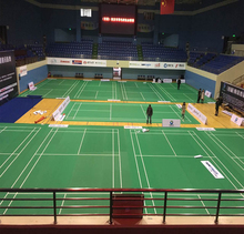 Best selling antistatic sports pvc badminton flooring for sale