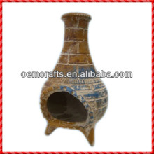 High quality handmade outdoor Mexico Clay Chimenea