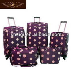 Animal print luggage set suitcase flower print luggage