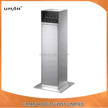 Stainless Steel Cigarette Bin/square shape Ashtray Stand