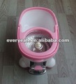 2012 Hot sale ROHS certificate approved four device 360 rotating magic mop with bucket with aluminum pedal