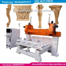 5 Axis Rotary 3D Wood Ten Eight Six Four Heads CNC Router, CNC Virgin Mary Statue Carving Machine