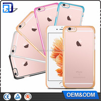 Luxury Design High Quality Ultra-Thin Transparent Electroplated PC Hard Back Case for iPhone 6 6S 4.7'' China Supplier Wholesale