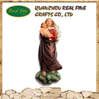 2015 new design wall decor mary and baby jesus statue
