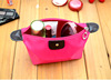 2015 New Travel Cosmetic Bag Makeup Case Zipper Cheap Clean Mini Women Bags