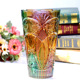 Unique Design K9 Crystal High quality Glass Flower Vase Decorative Crystal Colourful Vase
