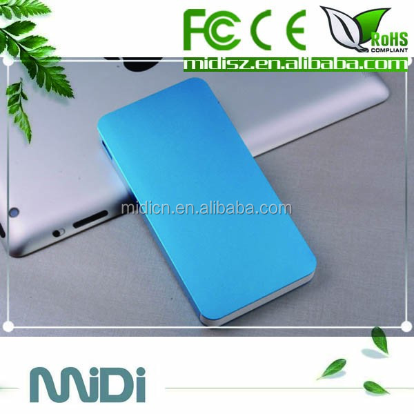 2016 latest super slim power bank 8000mAh support all smart phone from China factory