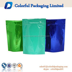 Stand up Foil Pouches Bags/Plain Foil Stand Up Pouch and Bag