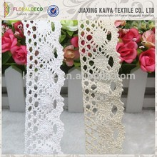 Great quality cheap pretty design crochet cotton lace ribbon china