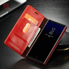 CaseMe case For Samsung Galaxy Note 8 leather Wallet Magnetic Flip Cover