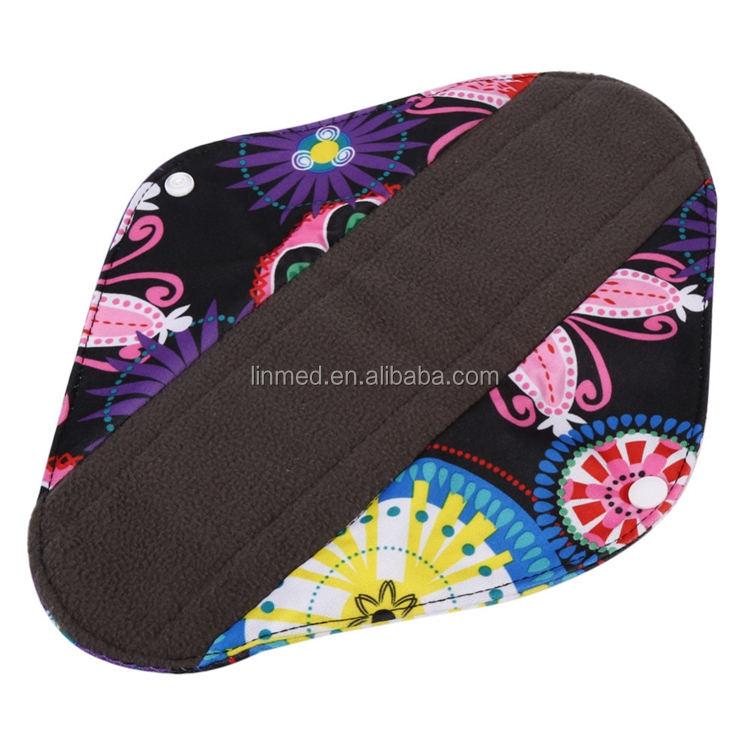 Wholesale Sanitary Pad Bamboo Charcoal Washable Sanitary Pads