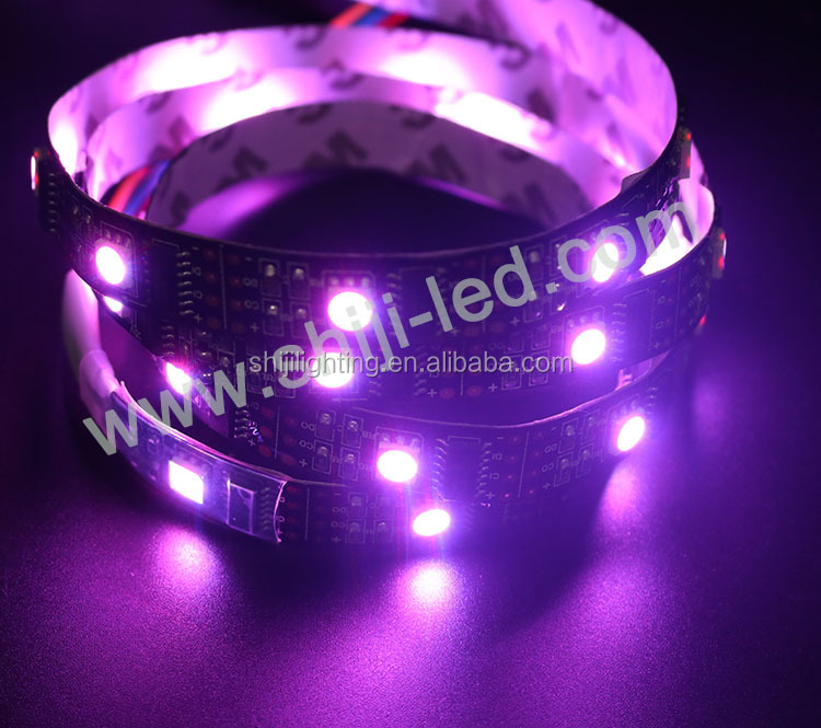 Individually dmx controlled WS2801 IC <strong>RGB</strong> 30pcs SMD 5050 digital led strip
