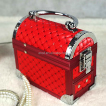 Professional aluminum jewelry necklace travel makeup cosmetic case wholesale