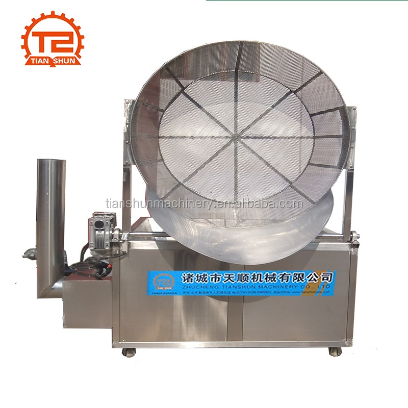 Gas deep fryer potato chips making machine