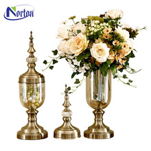 Western style bronze flower vase sculpture for sale NTBM-222A