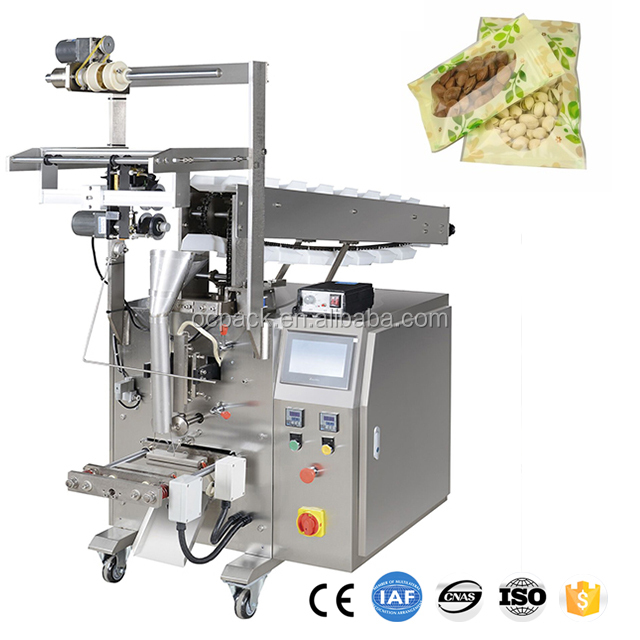 Vertical Form Fill Seal Simple Filling and Bucket Chain Packing Machine for Nuts