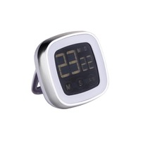 Fashion ROHS Black Digital Kitchen Timer with Touch Keys