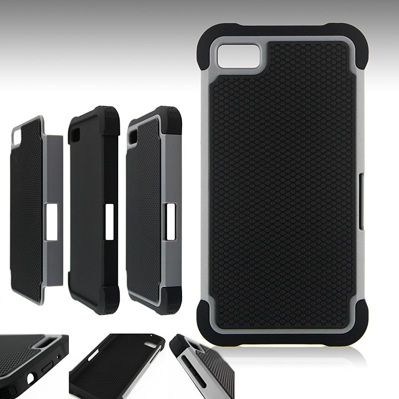 IMPACT HARD SOFT BUMPER COMBO HYBRID ARMOR CASE COVER FOR BLACKBERRY Z10