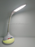 China LED lamp Incandescent Light Source and as per pantone, White Color table lamp LED
