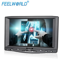 FEELWORLD 800*480 car rear view 7 wide screen touch screen hdmi monitor with VGA/AV inputs