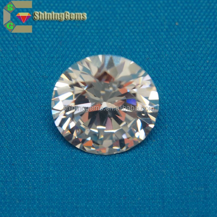 Wuzhou AAA Quality Artificial CZ Stone Round White Synthetic Cubic Zircon