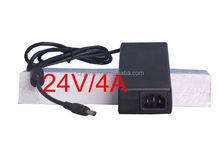 Top Quality! 24V/4A AC DC Adapter, 96W Power Supply 24V LED Driver UL, CE, SAA, PSE Listed.