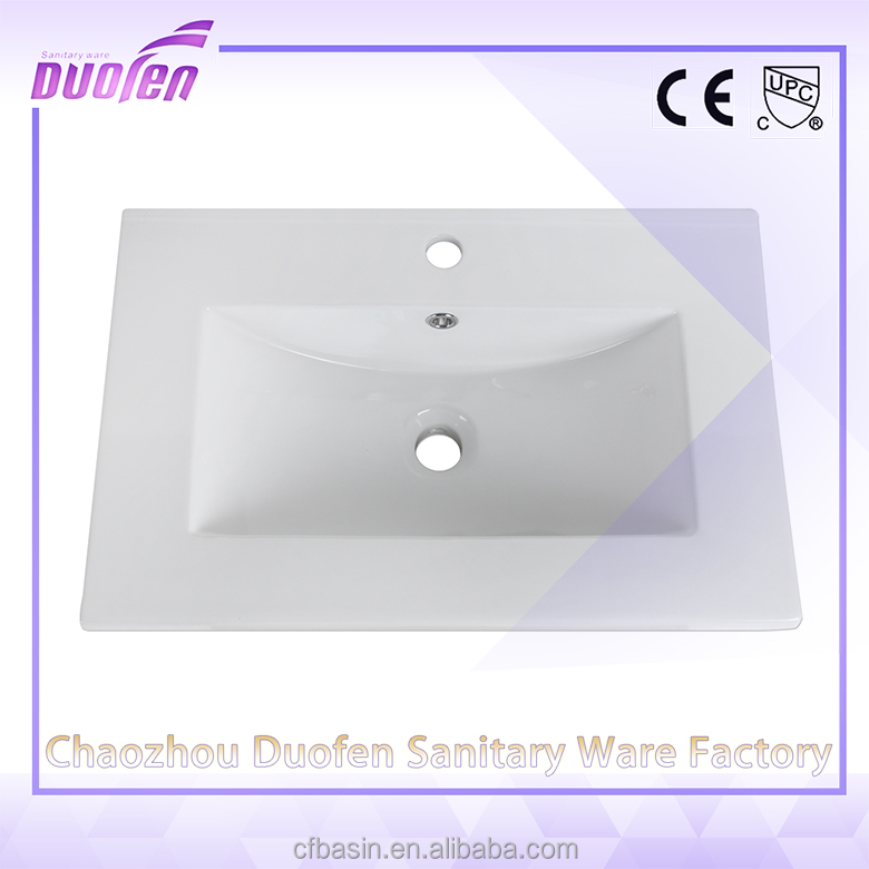Cheap price corner one piece bathroom sink and countertop