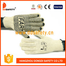DDSAFETY 2017 Blue pvc dots one side with LOGO gloves
