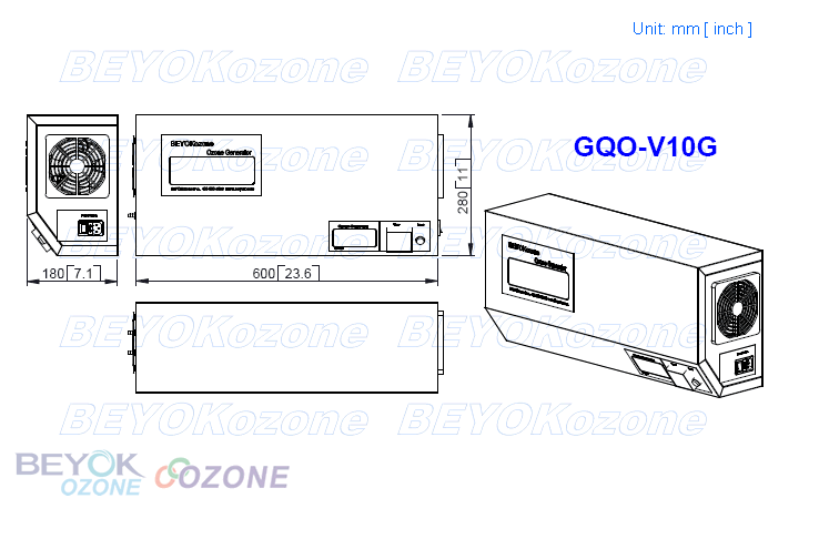 2017 Ozone Therapy Machine Ozone Disinfector GQO-V10G