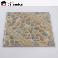 Cobblestone look decorative floor gres ceramic tile