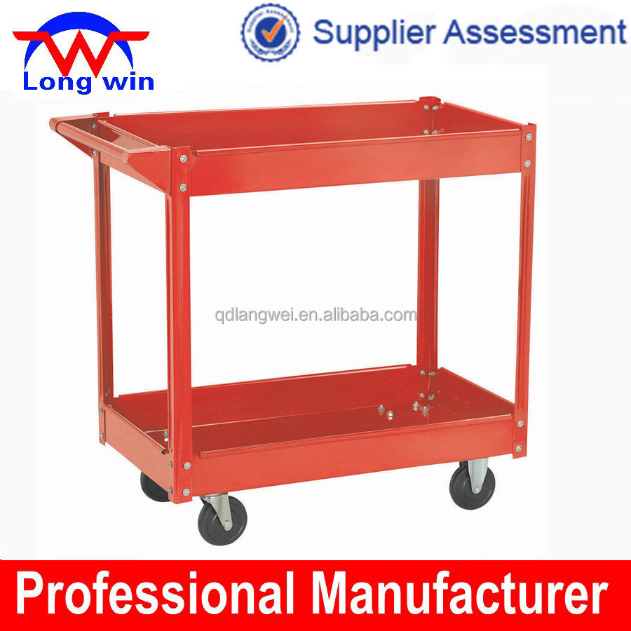 steel multi-purpose working rolling servicing tool cart