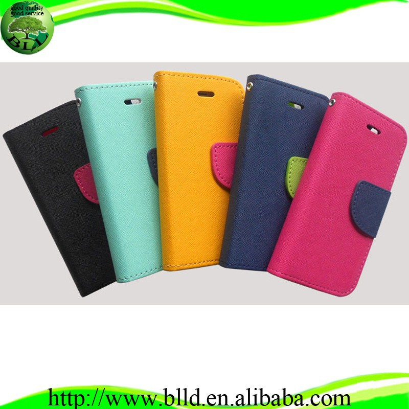 OEM blank leather phone cases,Sublimation Leather Flip Cover for Iphone 5
