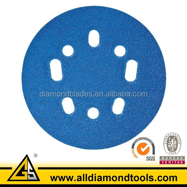 Colored Abrasive Round 5 Inch Sanding Discs