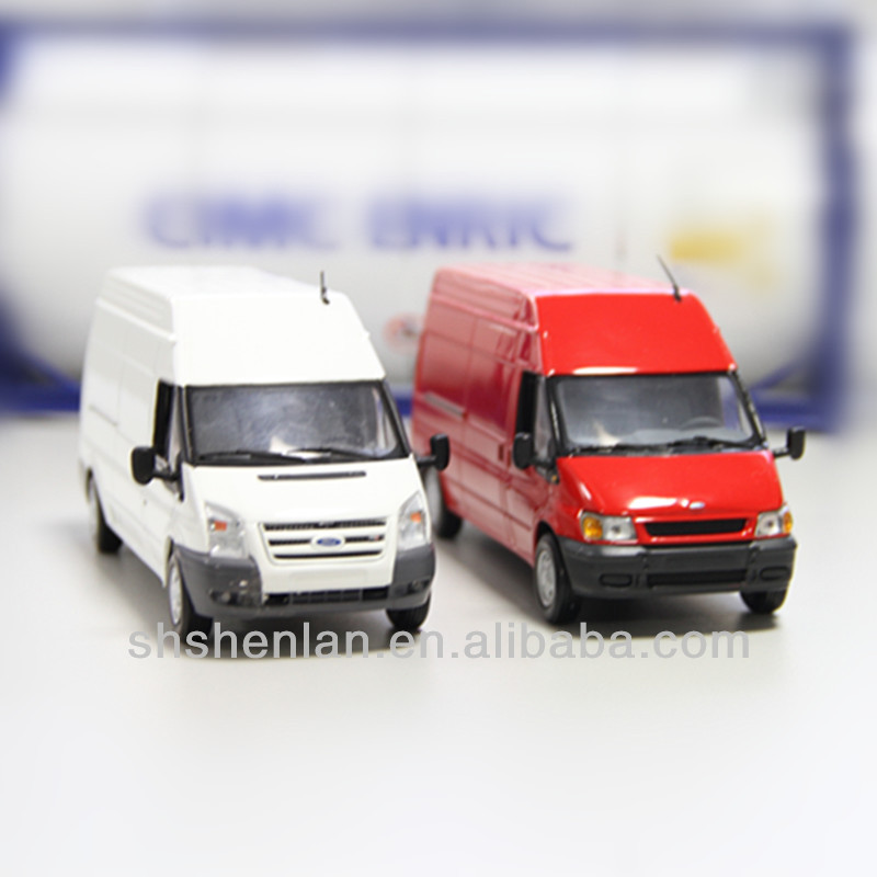 1:43 scale ford white van toy,diecast van model
