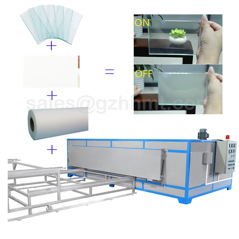 vaccum heating PDLC smart glass film EVA laminating machine