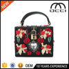 Wholesale Embroidery Rose famous Diamond Flowers Hollow Evening clutch bag SC2350