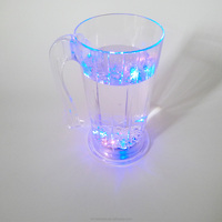 Bottom price plastic handle individually wrapped plastic led blinking cup