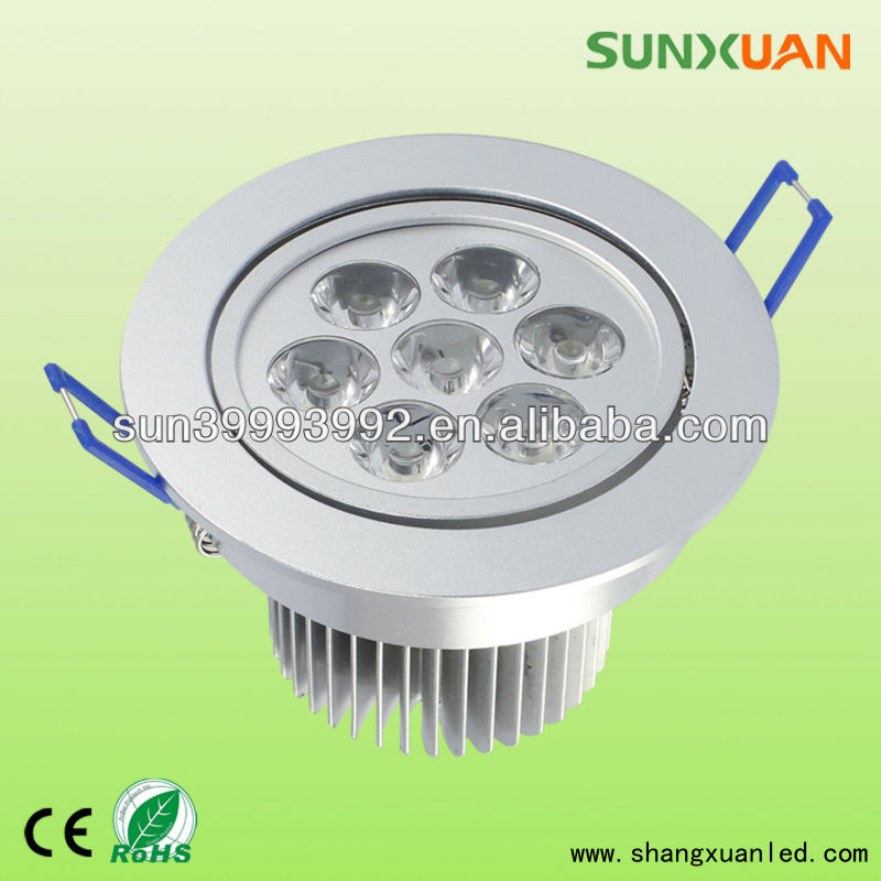 High lumen 7W led ceiling puck light