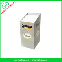 Point of sales Recycled cardboard Corrugated paper Material display stand for Drugstore Pharmacy