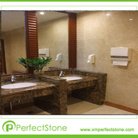 bathroom countertops with built in sinks dark brown marble tile countertop