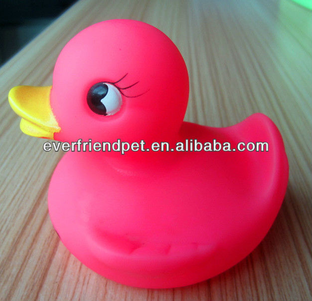 Mini Baby Pink Plastic Bath Duck