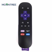 New Generic For Roku TV 1 2 3 4 XS XD IR Media Player Replace For Roku Streaming Remote Control MGO Key