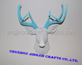 handmade home decoration resin deer head crafts and gifts ,Faux Taxidermy,Animal Head wall hanging