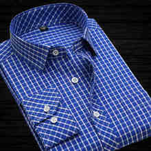 long-sleeved plaid 100% cotton non-iron business men shirts