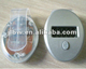 oval shape silver 1 reset button pedometers with transparent clip on back
