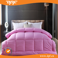 hotel used 300gsm Direct Selling Pink Thickening Duck Down Duvet