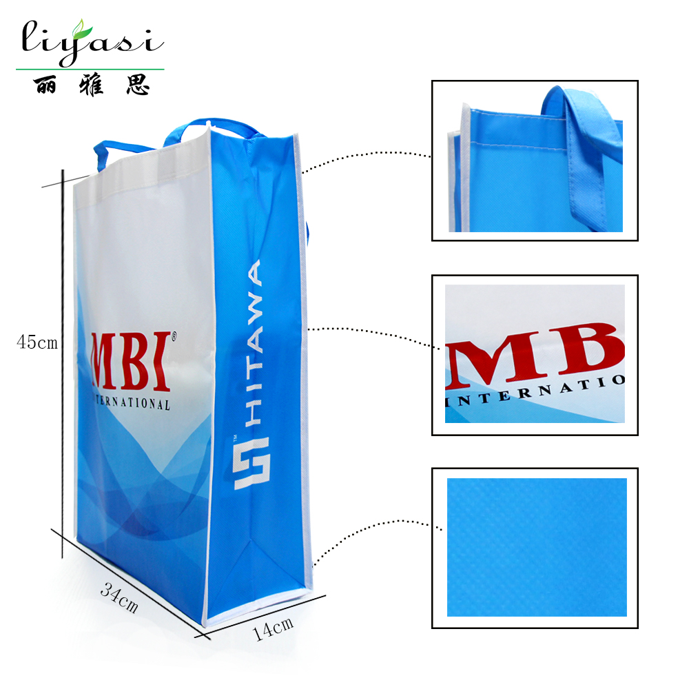 OEM Welcome 5000pcs OPP Laminated Non Woven Shopping Bag