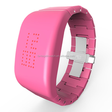 ABS High-grade Explosion - proof LED Pink Watch with Stainless Steel butterfly Shape Clasp