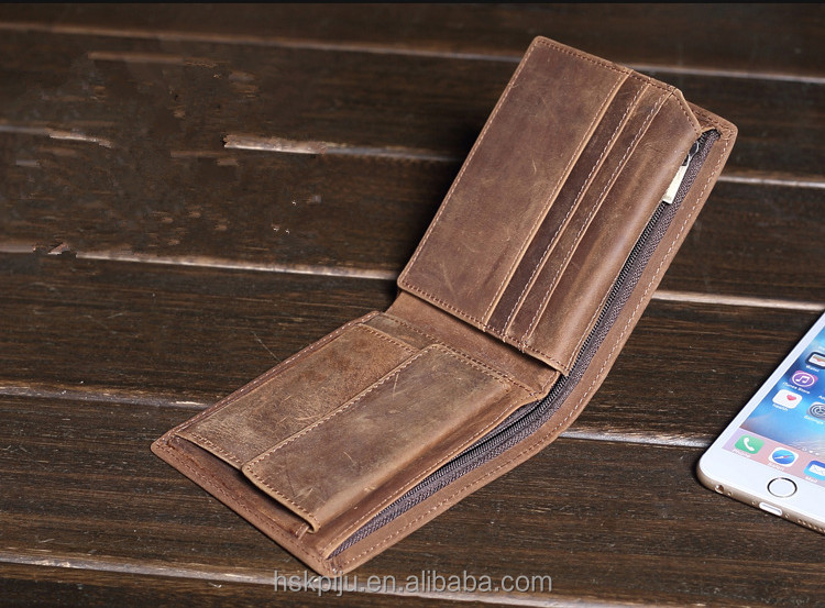 Men Imperial Horse Leather Short purse money clip wallet online
